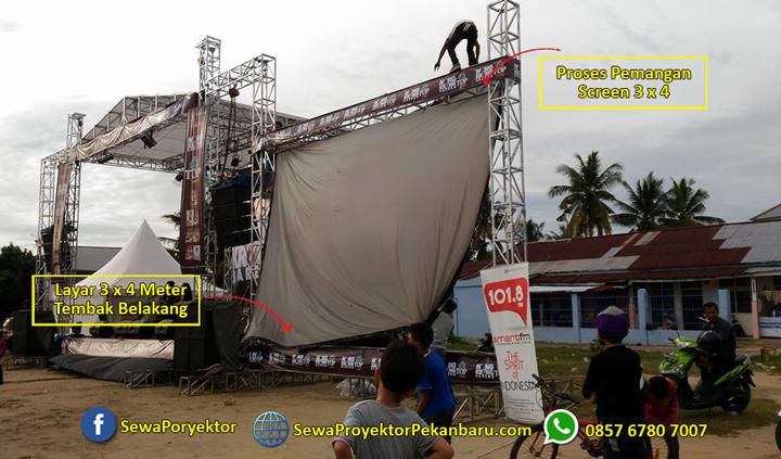 Rental Layar Proyektor 3x4m di Pekanbaru