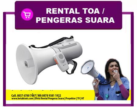 Rental Toa Harian di Pekanbaru