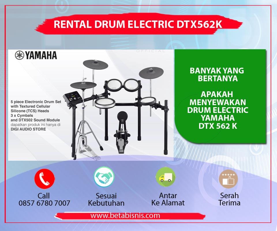 sewa drum elektrik yamaha dtx562k di pekanbaru