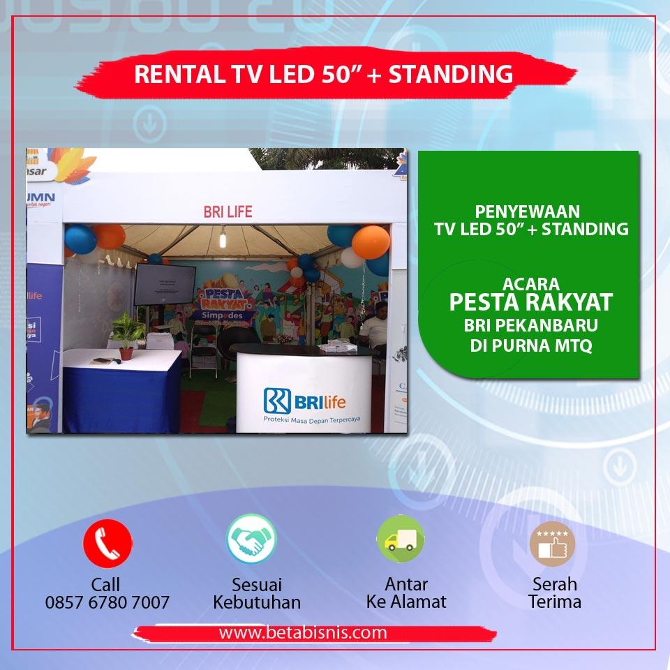 """Rental TV 50"""" untuk Pameran di Pekanbaru"""