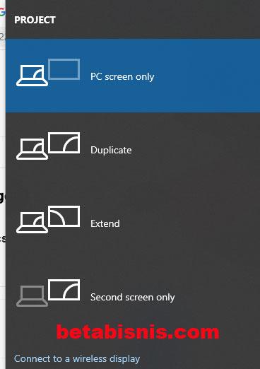 Laptop tidak konek dengan proyektor